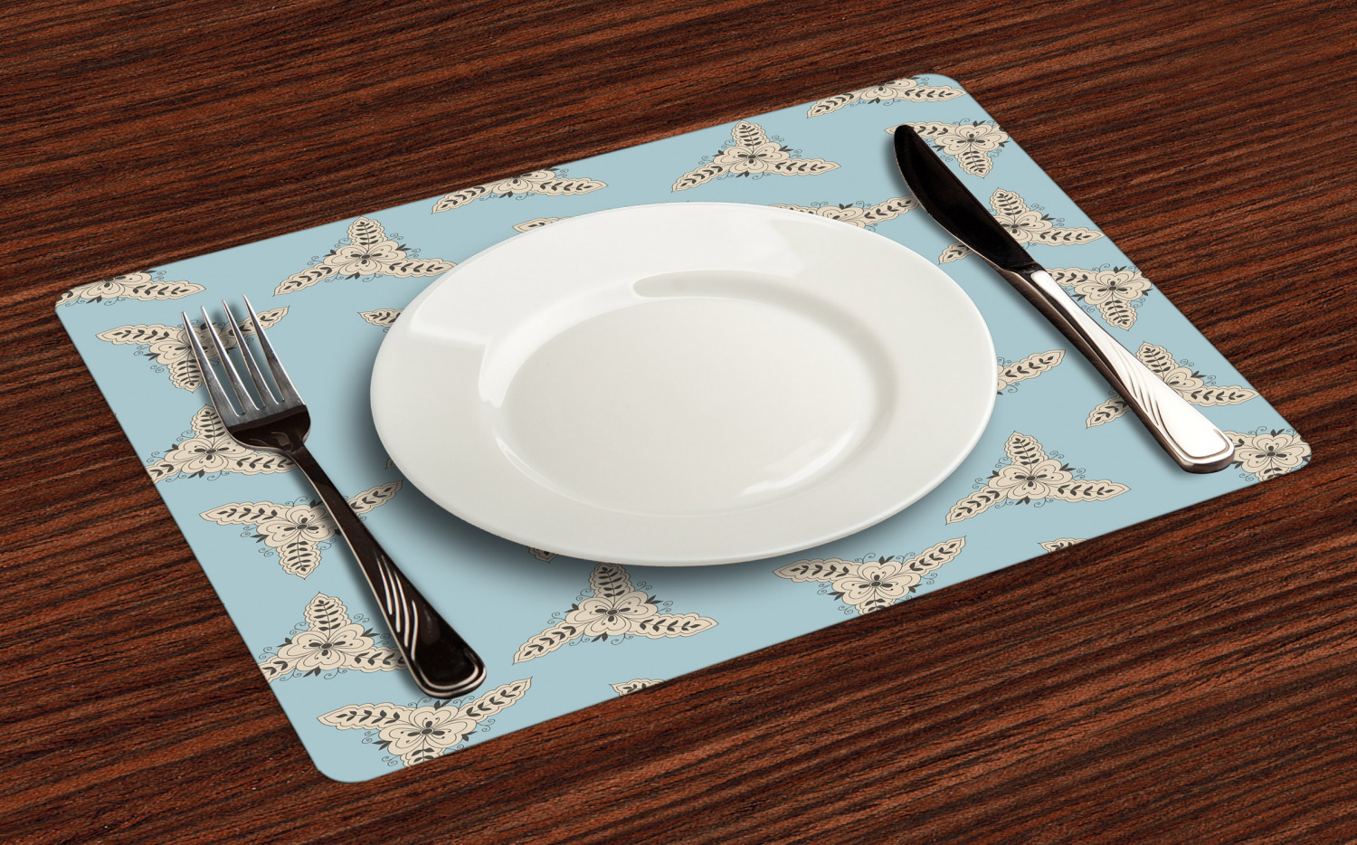 Ambesonne-Fabric-Place-Mats-Set-of-4-Placemats-for-Dining-Room-and-Kitchen-Table thumbnail 225