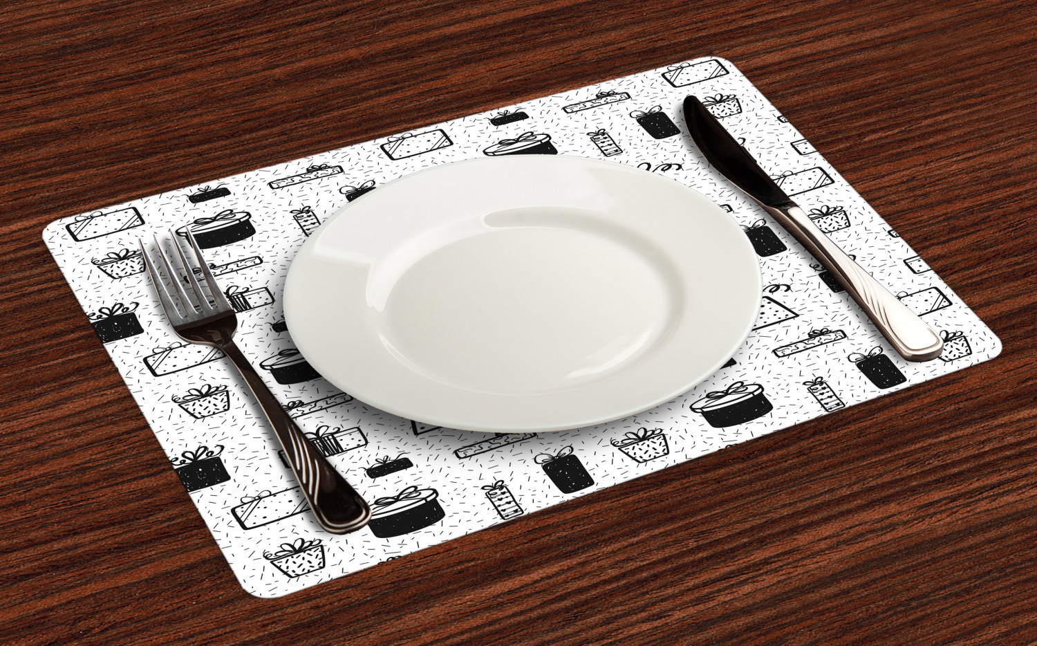 Ambesonne-Fabric-Place-Mats-Set-of-4-Placemats-for-Dining-Room-and-Kitchen-Table thumbnail 105