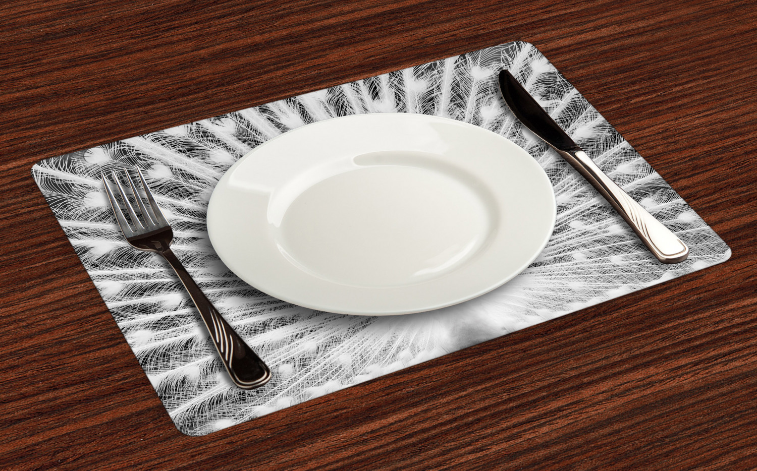 Ambesonne-Fabric-Place-Mats-Set-of-4-Placemats-for-Dining-Room-and-Kitchen-Table thumbnail 93