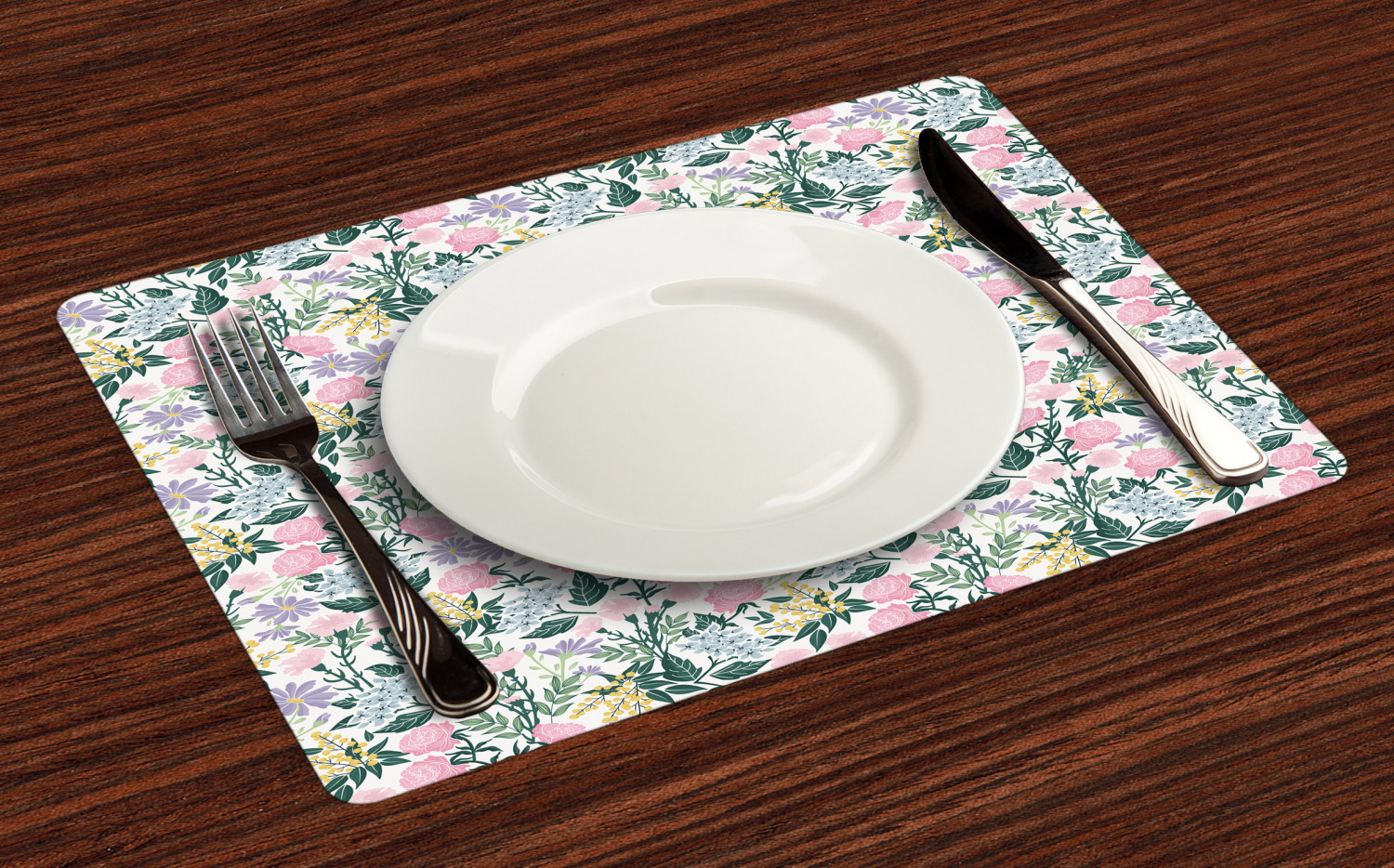 Ambesonne-Fabric-Place-Mats-Set-of-4-Placemats-for-Dining-Room-and-Kitchen-Table thumbnail 117