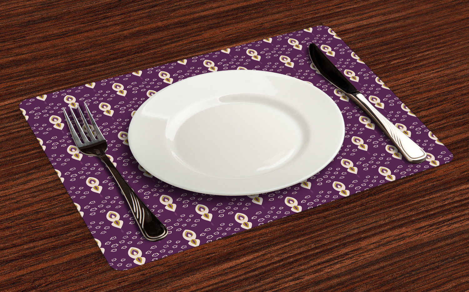 Ambesonne-Fabric-Place-Mats-Set-of-4-Placemats-for-Dining-Room-and-Kitchen-Table thumbnail 173