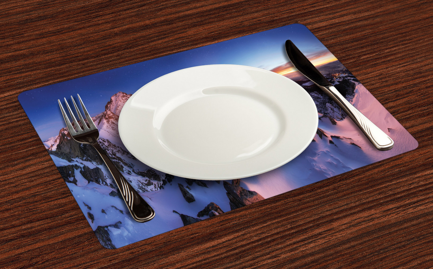 Ambesonne-Fabric-Place-Mats-Set-of-4-Placemats-for-Dining-Room-and-Kitchen-Table thumbnail 145