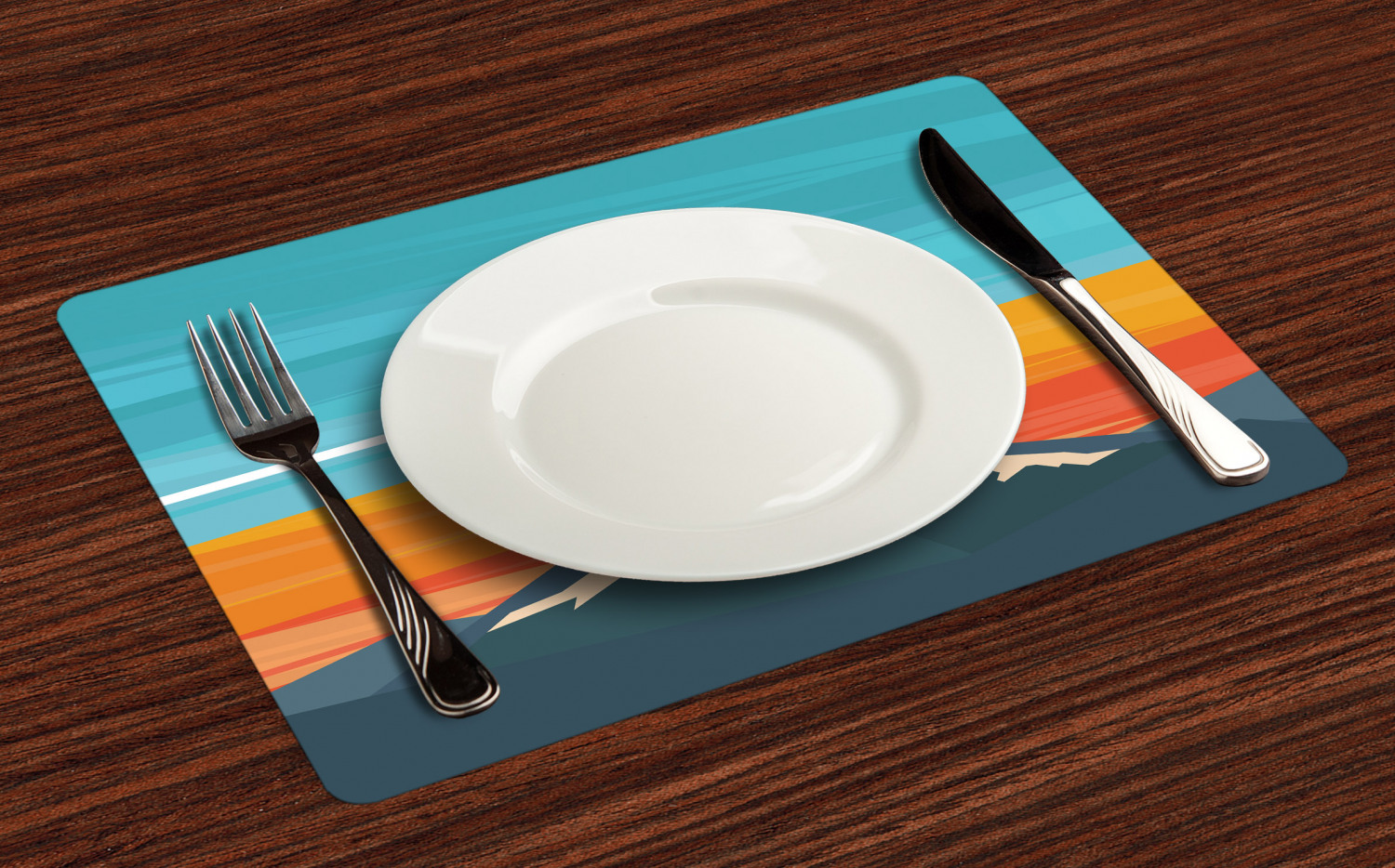 Ambesonne-Fabric-Place-Mats-Set-of-4-Placemats-for-Dining-Room-and-Kitchen-Table thumbnail 133