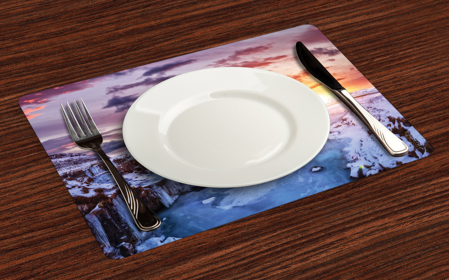 Ambesonne-Fabric-Place-Mats-Set-of-4-Placemats-for-Dining-Room-and-Kitchen-Table thumbnail 137