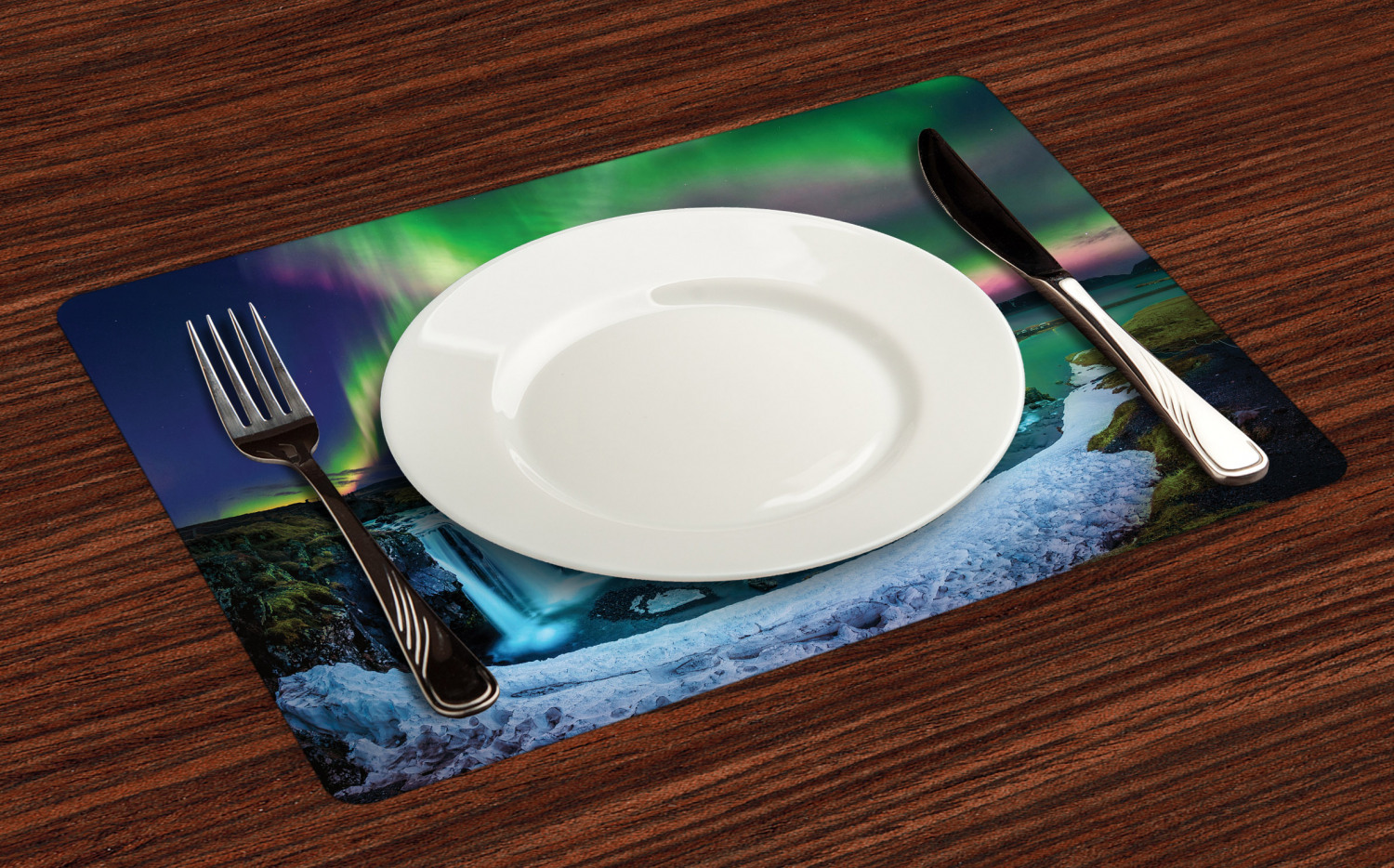 Ambesonne-Fabric-Place-Mats-Set-of-4-Placemats-for-Dining-Room-and-Kitchen-Table thumbnail 9