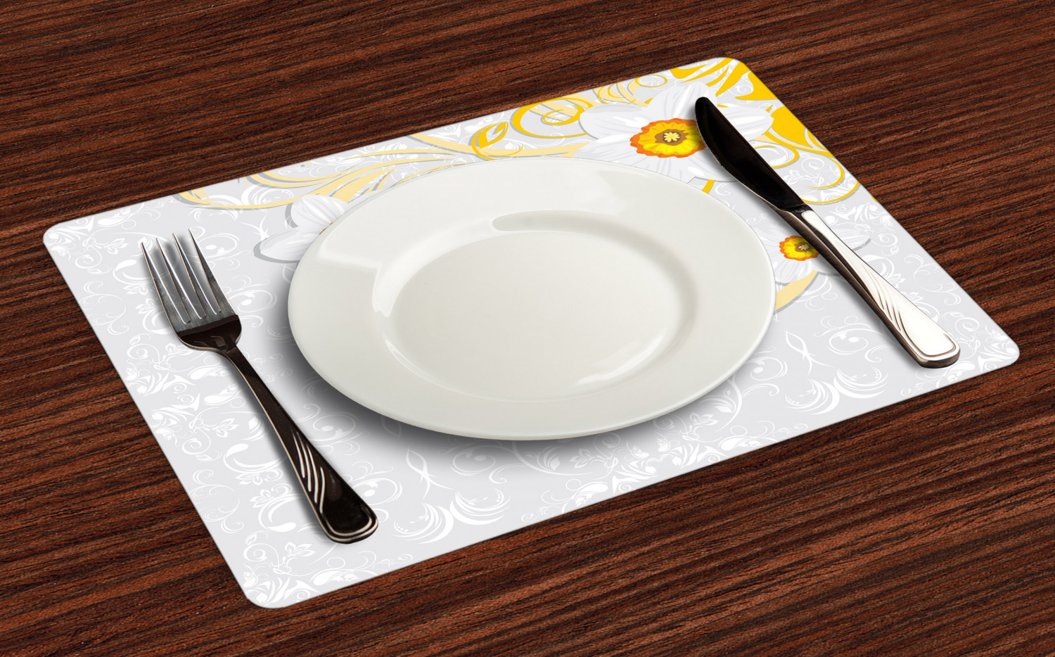 Ambesonne-Flower-Pattern-Placemat-Set-of-4-Fabric-Place-Mats-for-Table-Decor thumbnail 69