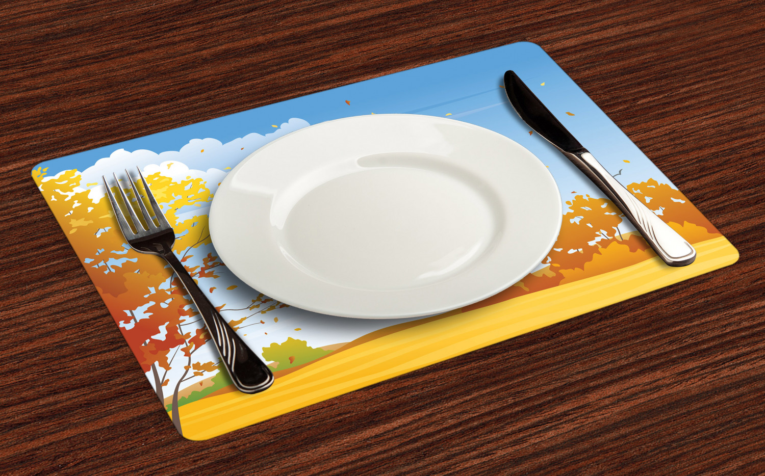 Ambesonne-Fabric-Place-Mats-Set-of-4-Placemats-for-Dining-Room-and-Kitchen-Table thumbnail 233