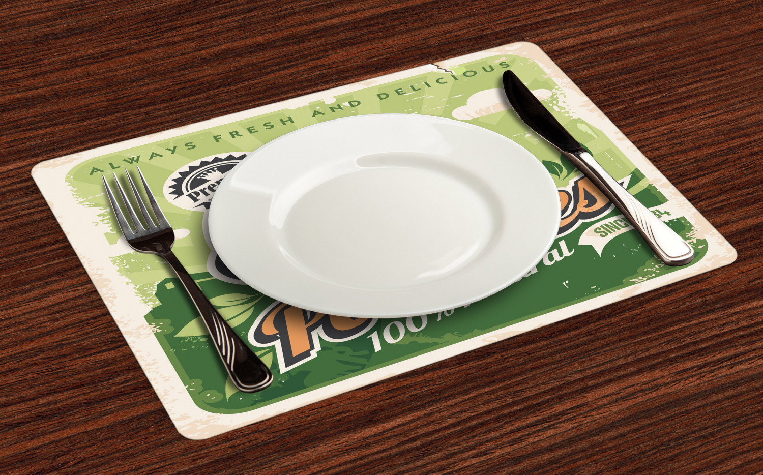 Ambesonne-Fabric-Place-Mats-Set-of-4-Placemats-for-Dining-Room-and-Kitchen-Table thumbnail 221