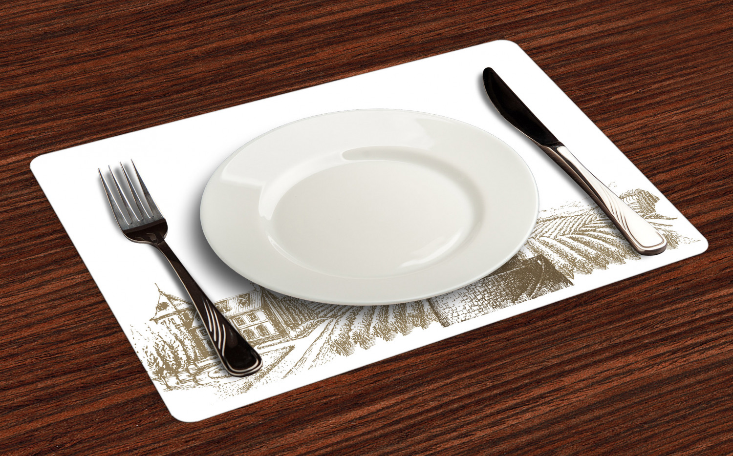 Ambesonne-Fabric-Place-Mats-Set-of-4-Placemats-for-Dining-Room-and-Kitchen-Table thumbnail 161