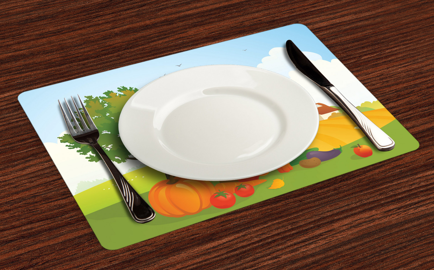 Ambesonne-Fabric-Place-Mats-Set-of-4-Placemats-for-Dining-Room-and-Kitchen-Table thumbnail 193