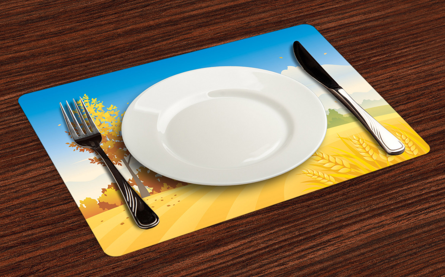 Ambesonne-Fabric-Place-Mats-Set-of-4-Placemats-for-Dining-Room-and-Kitchen-Table thumbnail 77