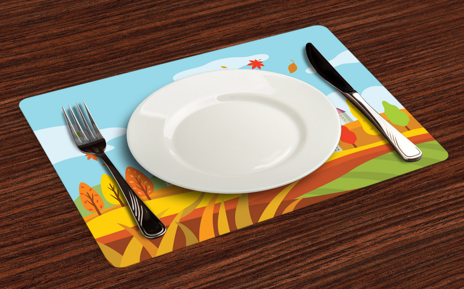 Ambesonne-Fabric-Place-Mats-Set-of-4-Placemats-for-Dining-Room-and-Kitchen-Table thumbnail 189