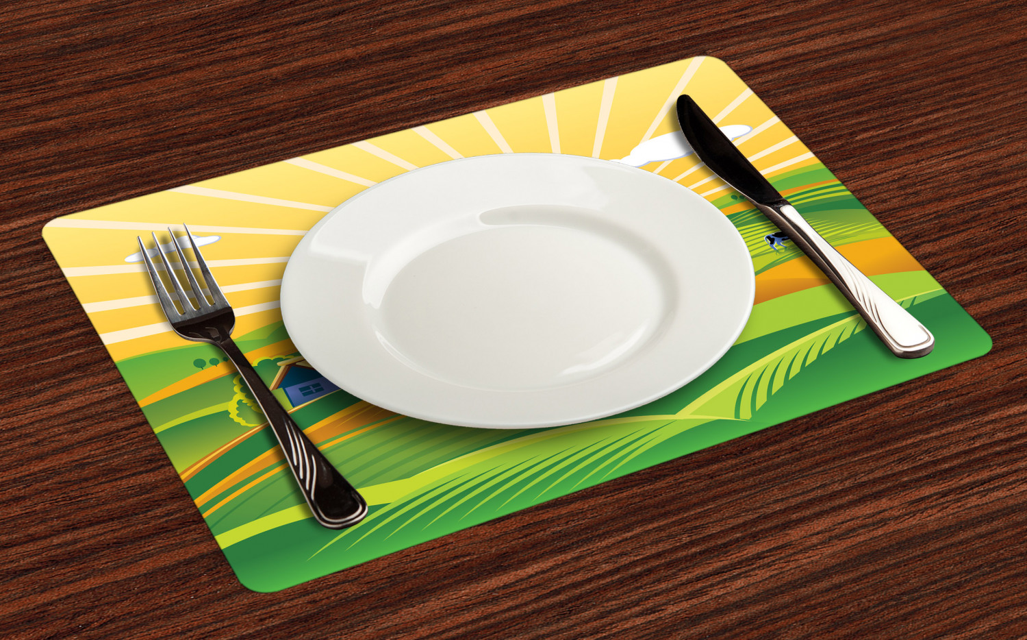Ambesonne-Fabric-Place-Mats-Set-of-4-Placemats-for-Dining-Room-and-Kitchen-Table thumbnail 41