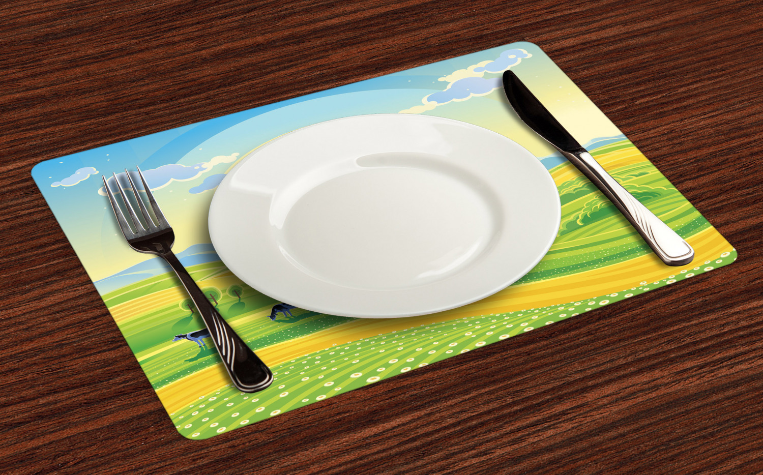 Ambesonne-Fabric-Place-Mats-Set-of-4-Placemats-for-Dining-Room-and-Kitchen-Table thumbnail 89