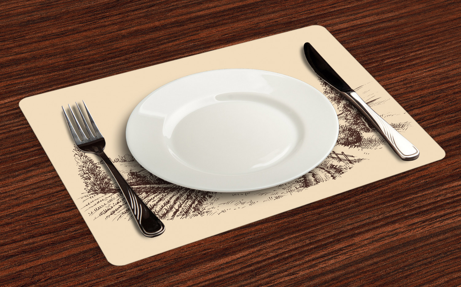 Ambesonne-Fabric-Place-Mats-Set-of-4-Placemats-for-Dining-Room-and-Kitchen-Table thumbnail 153