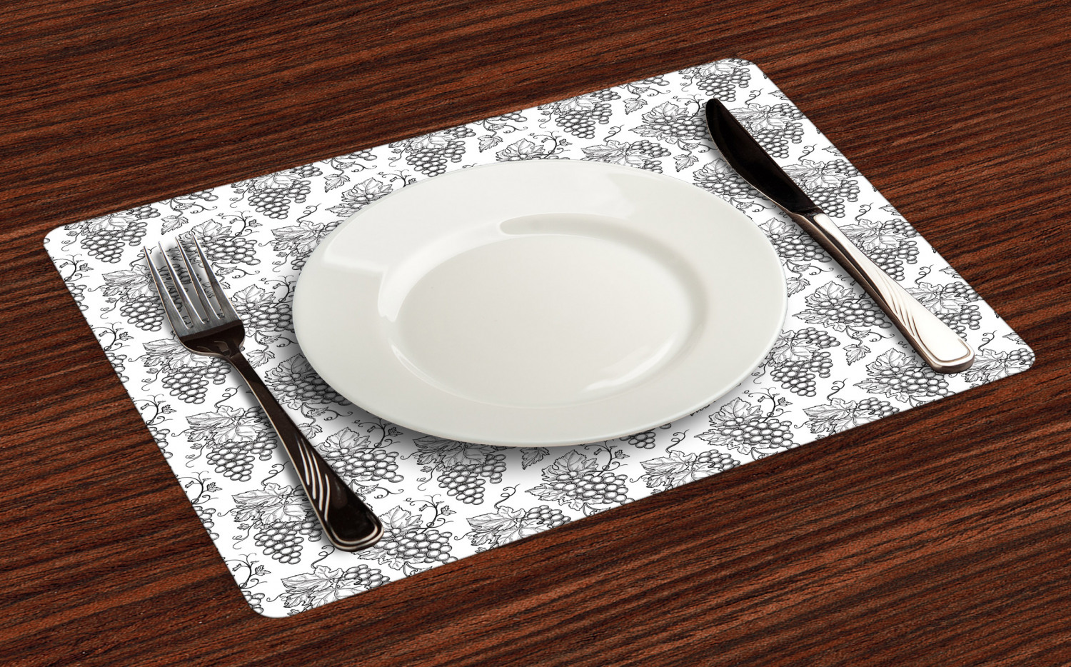 Ambesonne-Fabric-Place-Mats-Set-of-4-Placemats-for-Dining-Room-and-Kitchen-Table thumbnail 177