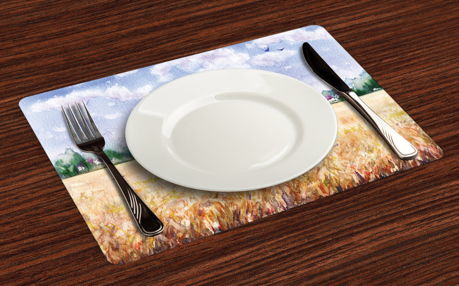 Ambesonne-Fabric-Place-Mats-Set-of-4-Placemats-for-Dining-Room-and-Kitchen-Table thumbnail 229