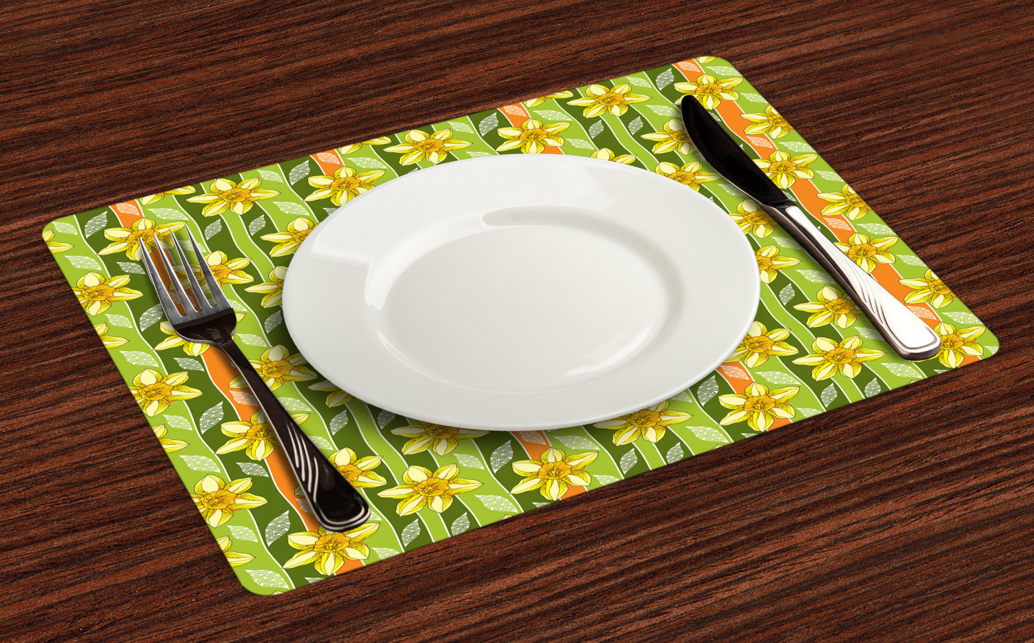 Ambesonne-Flower-Pattern-Placemat-Set-of-4-Fabric-Place-Mats-for-Table-Decor thumbnail 149