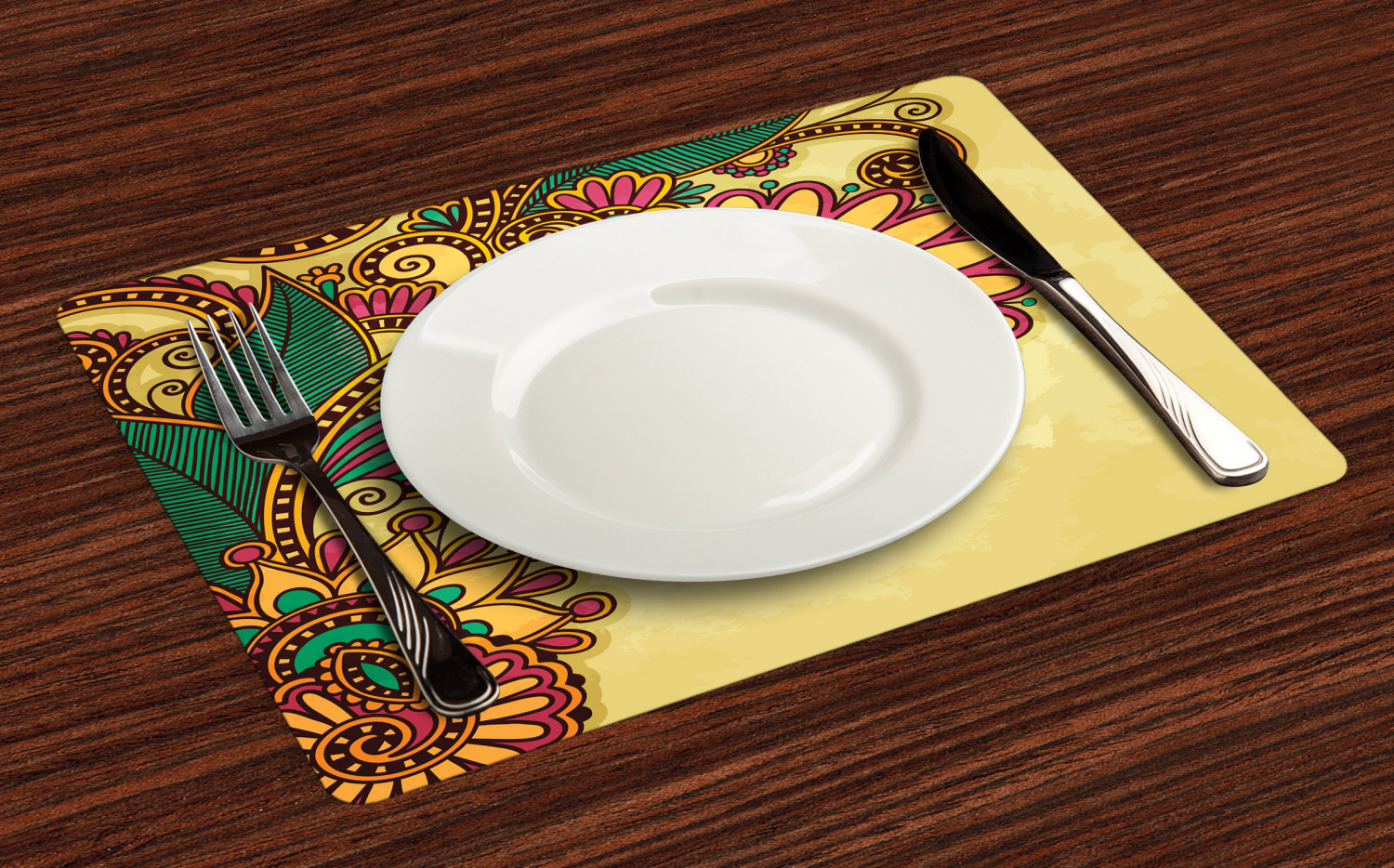 Ambesonne-Flower-Pattern-Placemat-Set-of-4-Fabric-Place-Mats-for-Table-Decor thumbnail 169