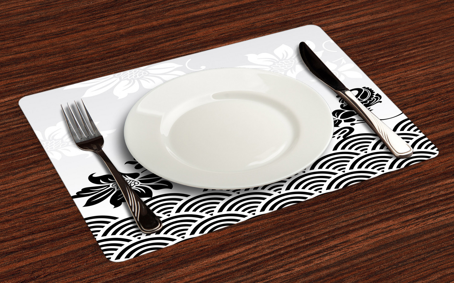 Ambesonne-Flower-Pattern-Placemat-Set-of-4-Fabric-Place-Mats-for-Table-Decor thumbnail 37
