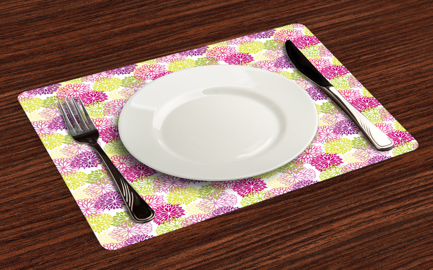 Ambesonne-Flower-Pattern-Placemat-Set-of-4-Fabric-Place-Mats-for-Table-Decor thumbnail 193