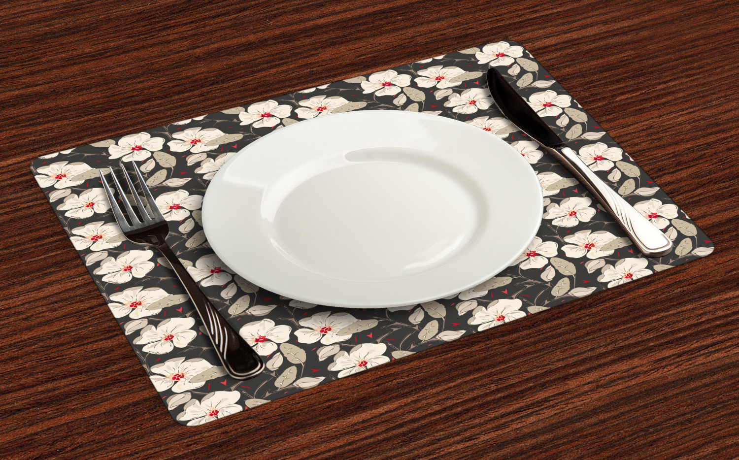 Ambesonne-Flower-Pattern-Placemat-Set-of-4-Fabric-Place-Mats-for-Table-Decor thumbnail 181