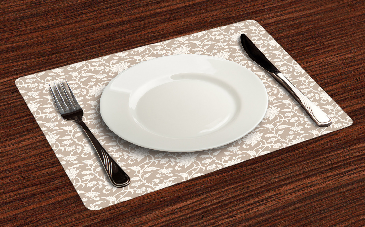 Ambesonne-Flower-Pattern-Placemat-Set-of-4-Fabric-Place-Mats-for-Table-Decor thumbnail 21