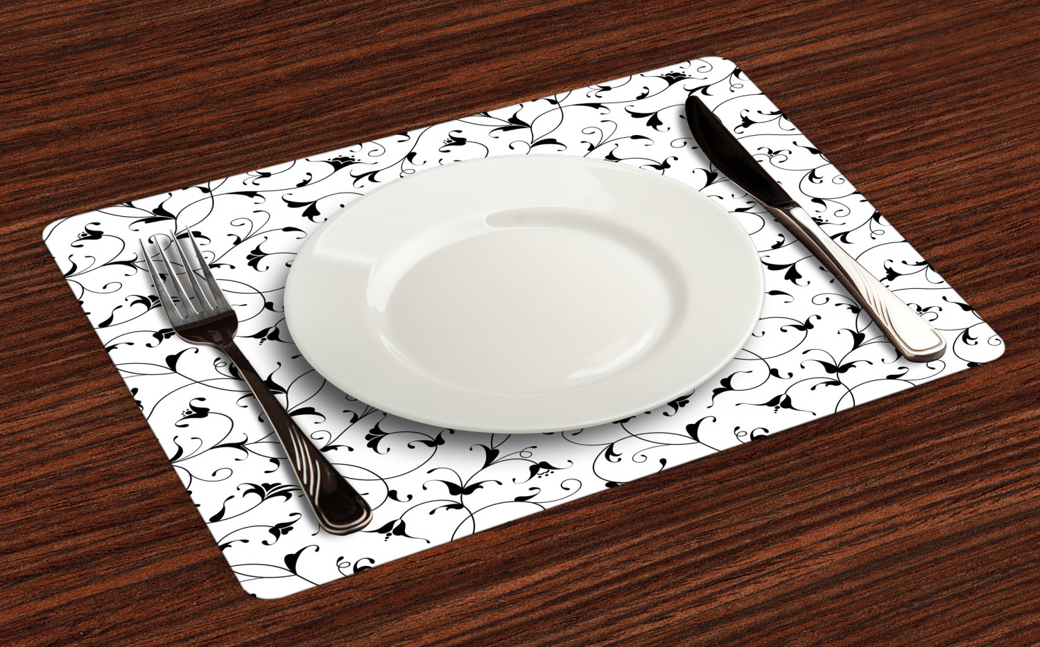 Ambesonne-Flower-Pattern-Placemat-Set-of-4-Fabric-Place-Mats-for-Table-Decor thumbnail 157