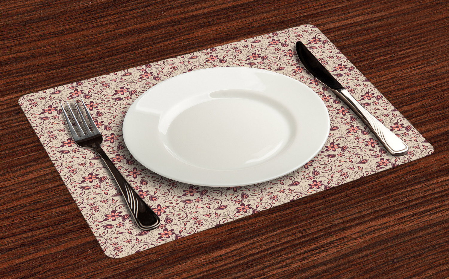 Ambesonne-Flower-Pattern-Placemat-Set-of-4-Fabric-Place-Mats-for-Table-Decor thumbnail 49