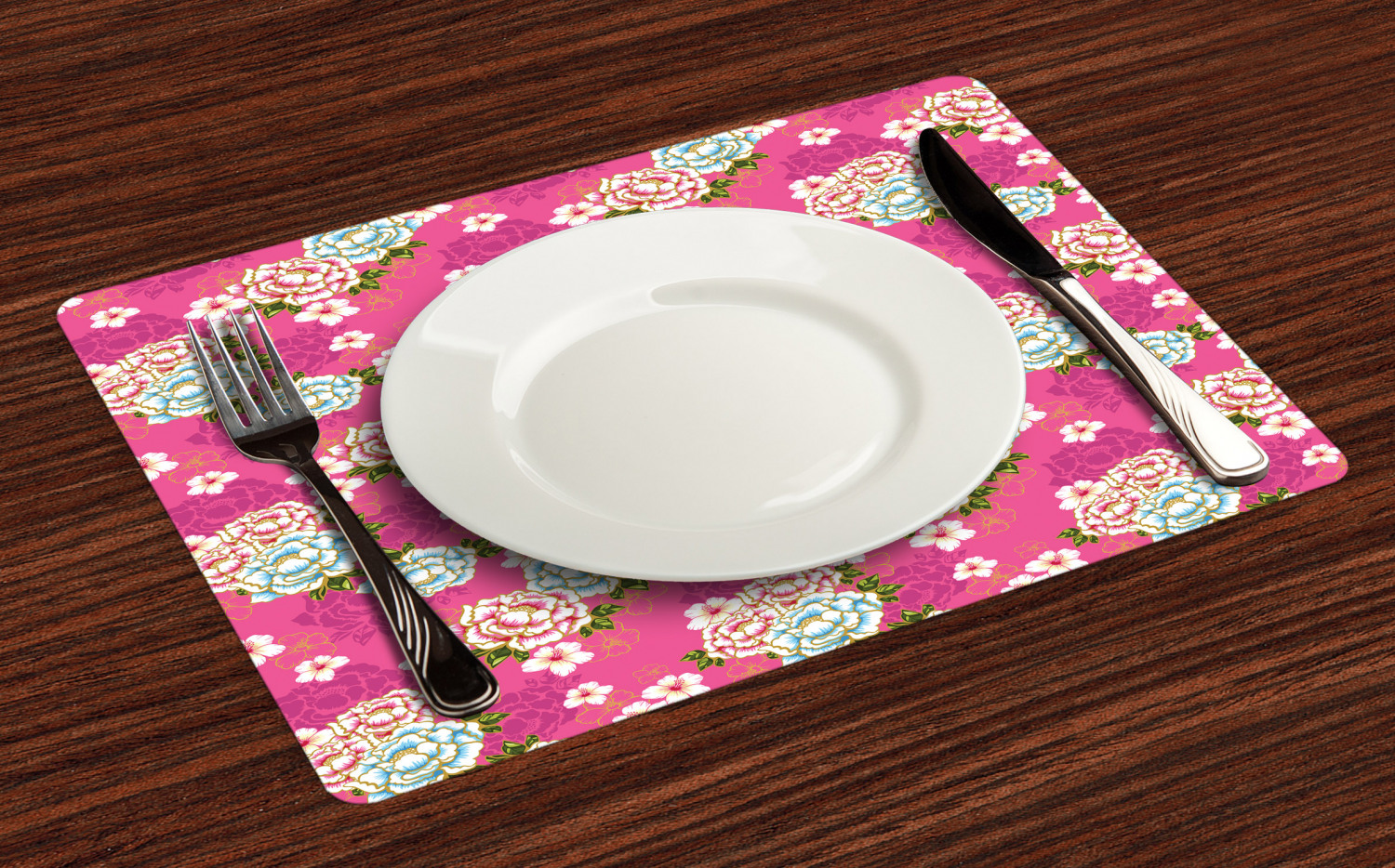 Ambesonne-Flower-Pattern-Placemat-Set-of-4-Fabric-Place-Mats-for-Table-Decor thumbnail 221