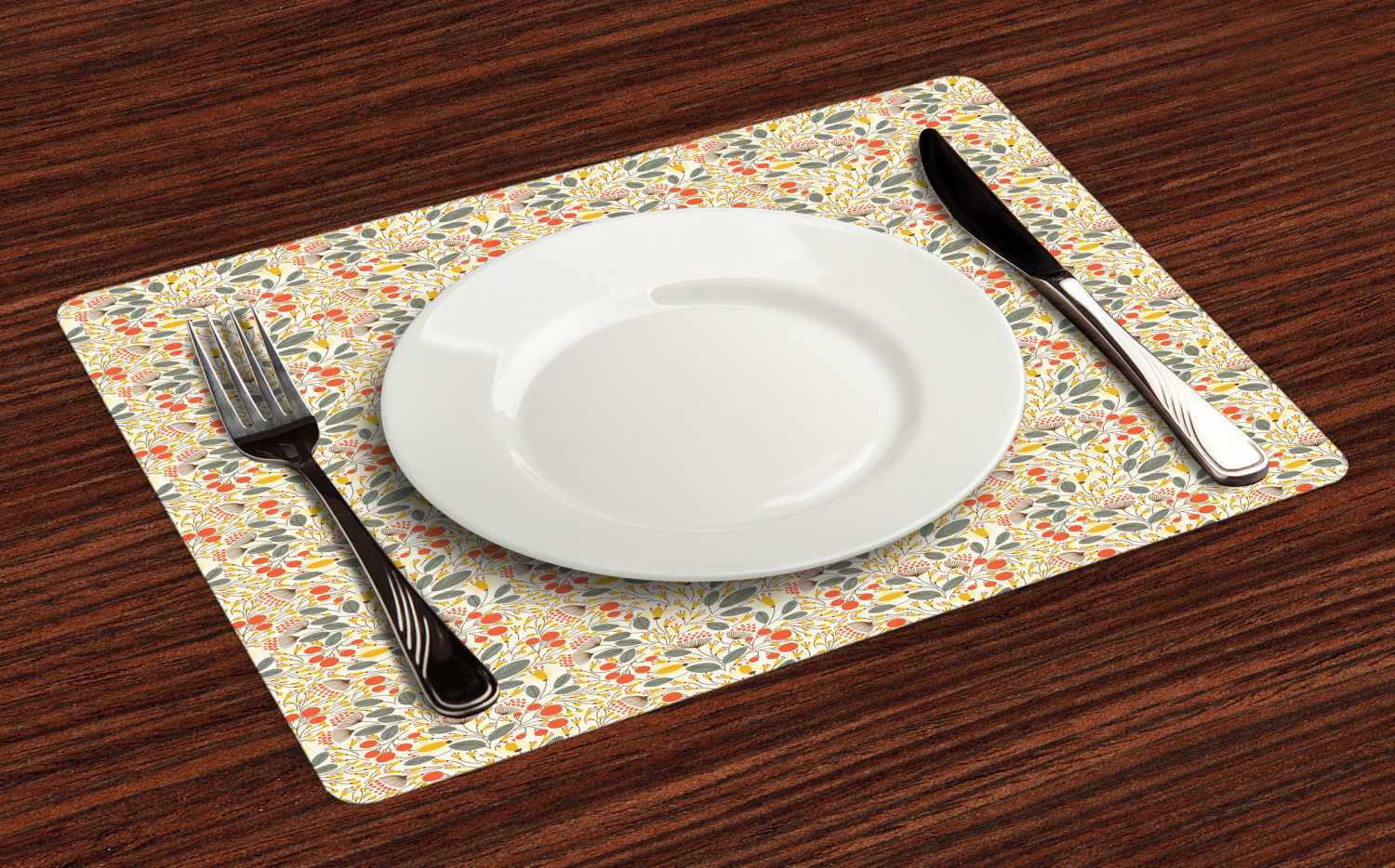Ambesonne-Flower-Pattern-Placemat-Set-of-4-Fabric-Place-Mats-for-Table-Decor thumbnail 133