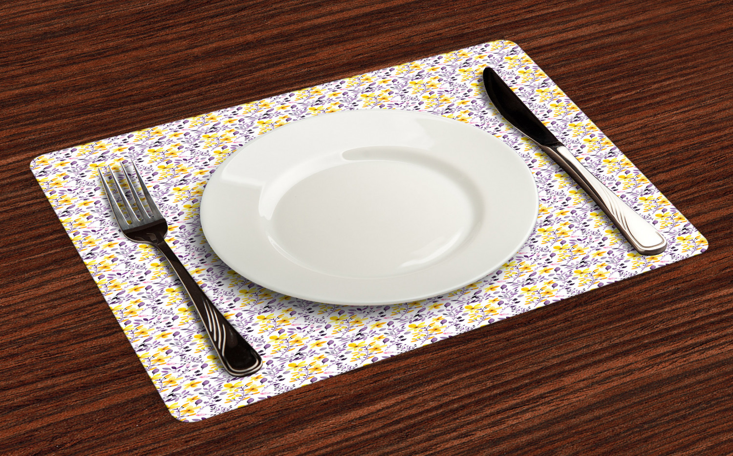 Ambesonne-Flower-Pattern-Placemat-Set-of-4-Fabric-Place-Mats-for-Table-Decor thumbnail 117