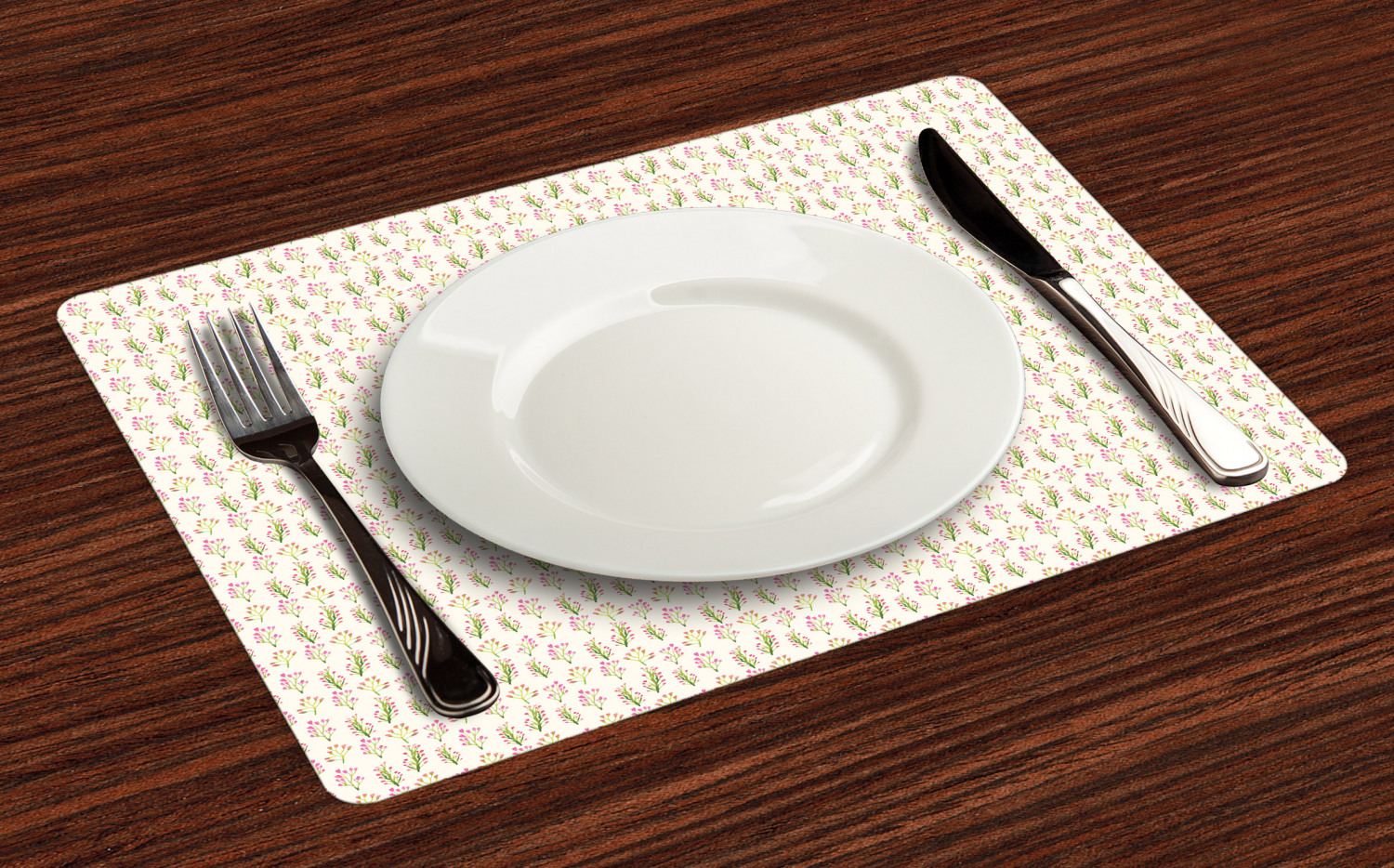 Ambesonne-Flower-Pattern-Placemat-Set-of-4-Fabric-Place-Mats-for-Table-Decor thumbnail 97