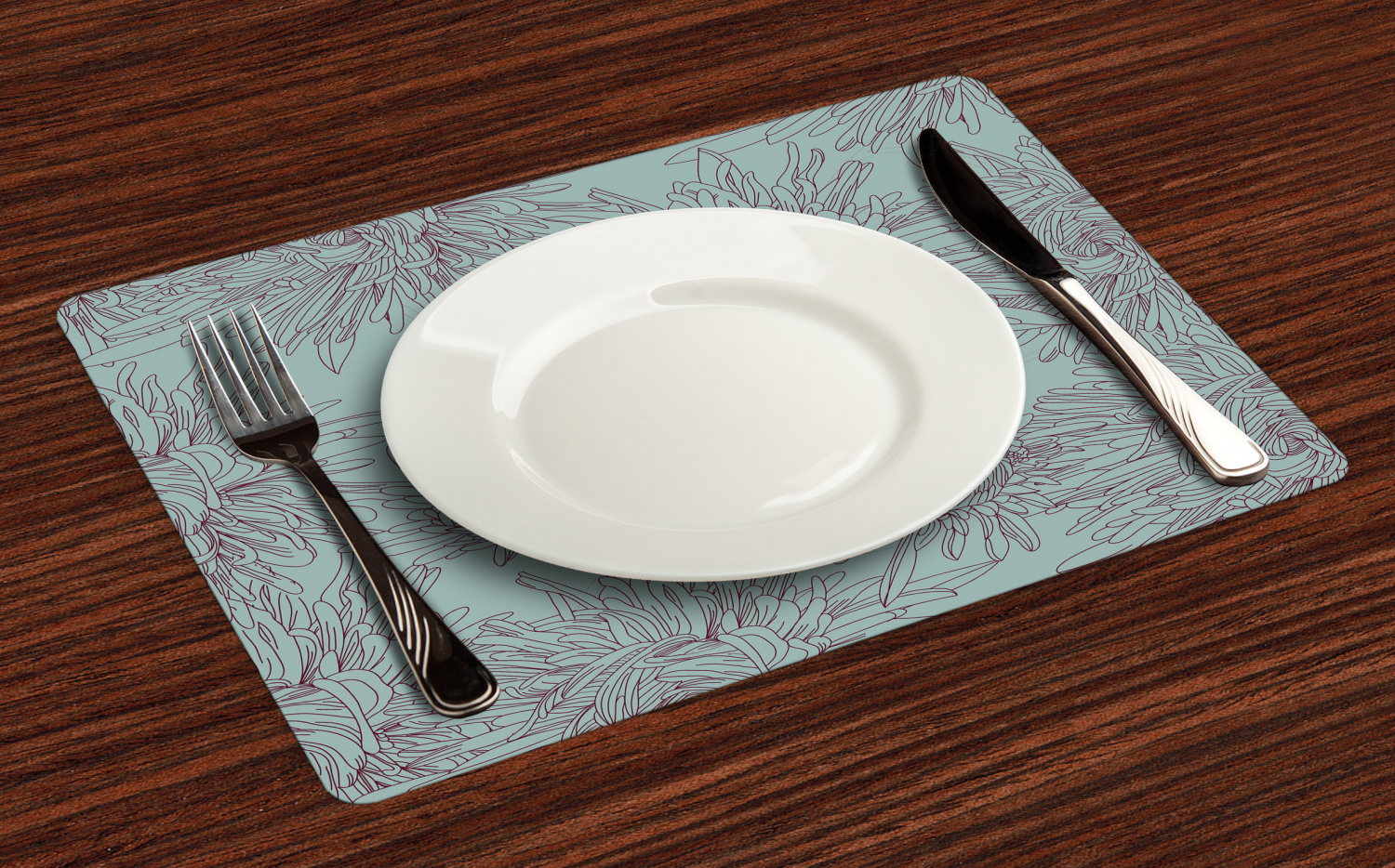 Ambesonne-Flower-Pattern-Placemat-Set-of-4-Fabric-Place-Mats-for-Table-Decor thumbnail 25
