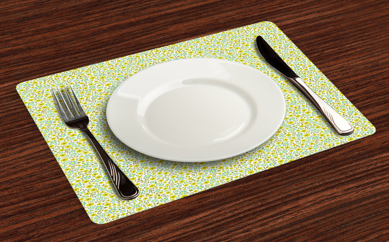 Ambesonne-Flower-Pattern-Placemat-Set-of-4-Fabric-Place-Mats-for-Table-Decor thumbnail 153