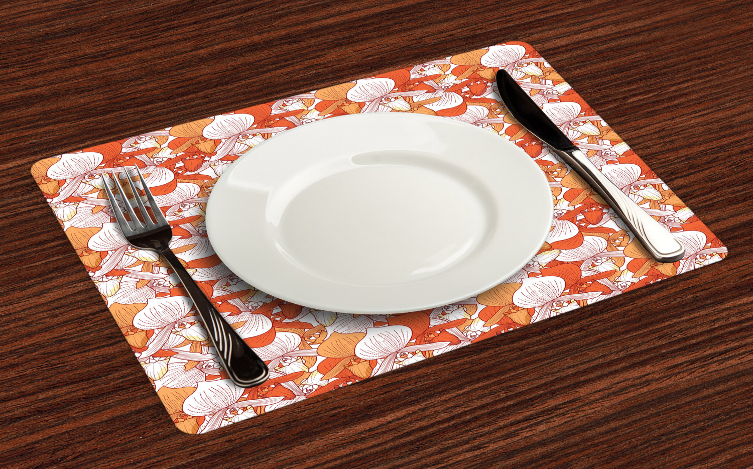 Ambesonne-Flower-Pattern-Placemat-Set-of-4-Fabric-Place-Mats-for-Table-Decor thumbnail 189
