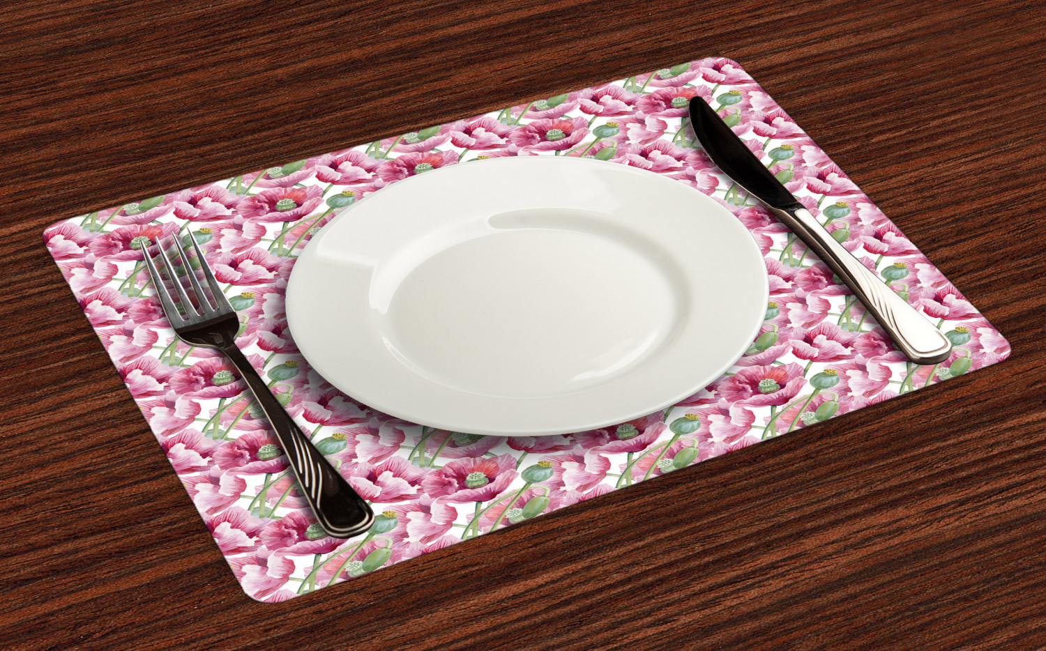Ambesonne-Flower-Pattern-Placemat-Set-of-4-Fabric-Place-Mats-for-Table-Decor thumbnail 45