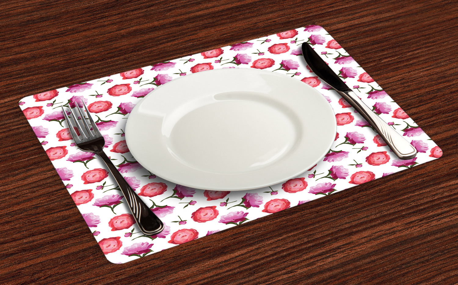 Ambesonne-Flower-Pattern-Placemat-Set-of-4-Fabric-Place-Mats-for-Table-Decor thumbnail 173