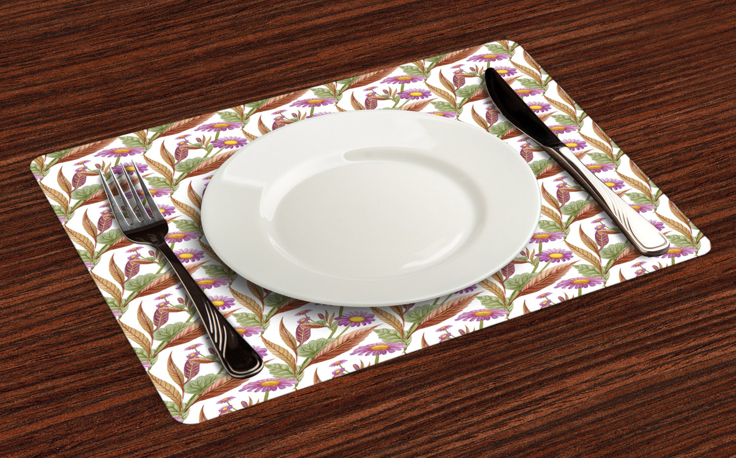 Ambesonne-Flower-Pattern-Placemat-Set-of-4-Fabric-Place-Mats-for-Table-Decor thumbnail 185