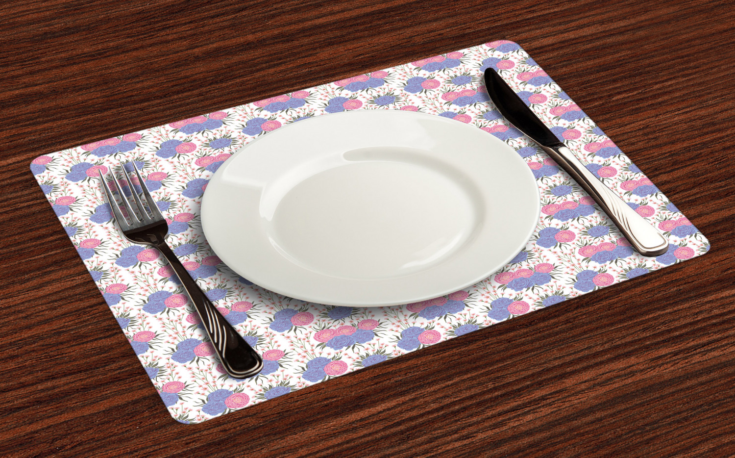 Ambesonne-Flower-Pattern-Placemat-Set-of-4-Fabric-Place-Mats-for-Table-Decor thumbnail 201