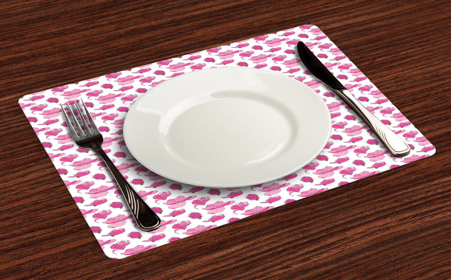 Ambesonne-Flower-Pattern-Placemat-Set-of-4-Fabric-Place-Mats-for-Table-Decor thumbnail 129