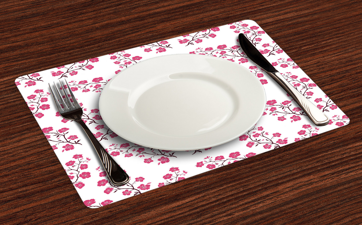 Ambesonne-Flower-Pattern-Placemat-Set-of-4-Fabric-Place-Mats-for-Table-Decor thumbnail 225