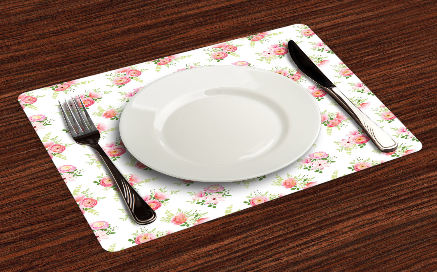 Ambesonne-Flower-Pattern-Placemat-Set-of-4-Fabric-Place-Mats-for-Table-Decor thumbnail 89