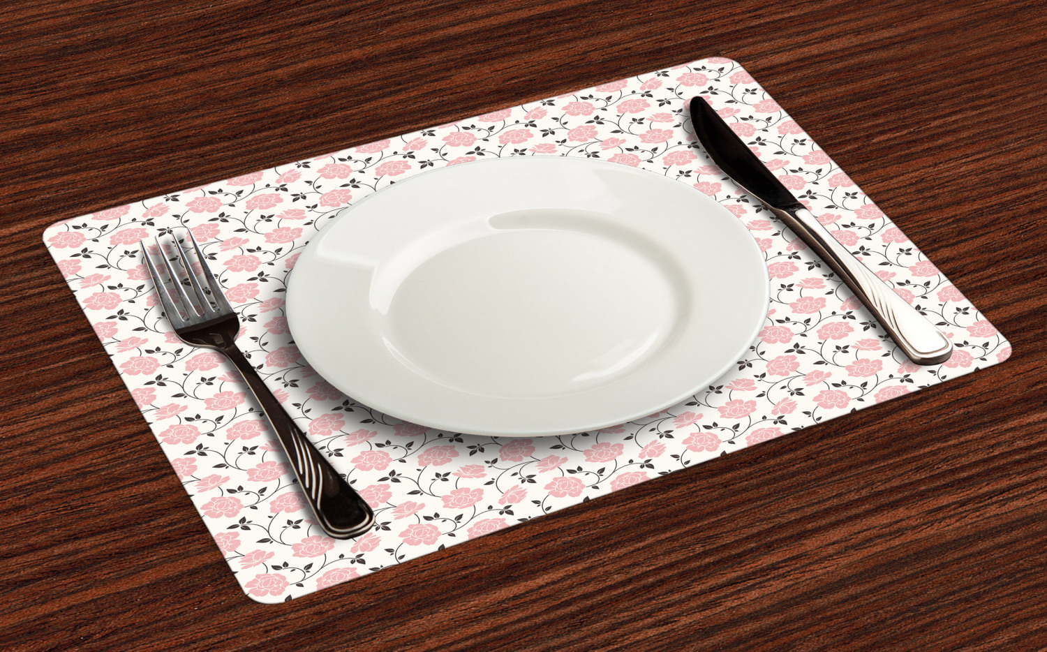 Ambesonne-Flower-Pattern-Placemat-Set-of-4-Fabric-Place-Mats-for-Table-Decor thumbnail 177