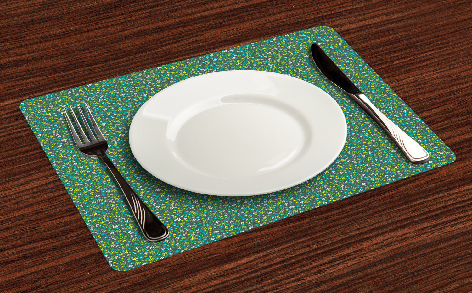 Ambesonne-Flower-Pattern-Placemat-Set-of-4-Fabric-Place-Mats-for-Table-Decor thumbnail 65