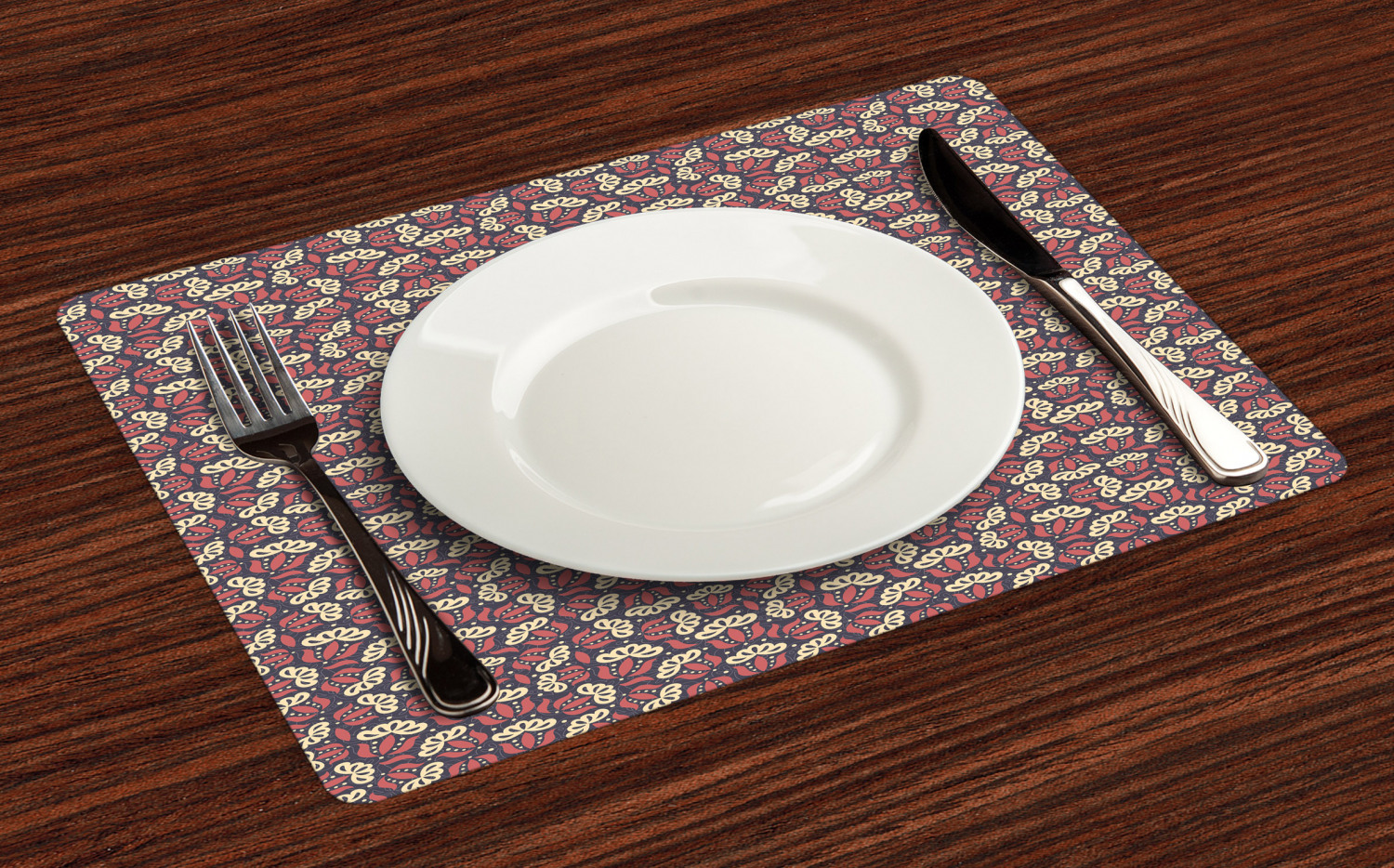 Ambesonne-Flower-Pattern-Placemat-Set-of-4-Fabric-Place-Mats-for-Table-Decor thumbnail 209