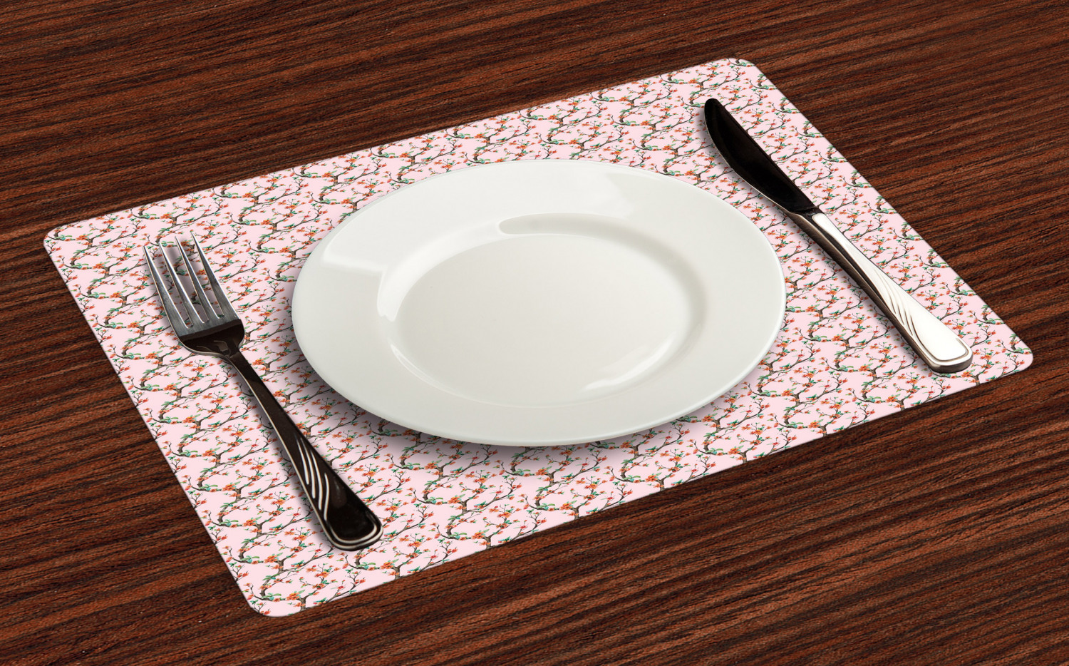 Ambesonne-Flower-Pattern-Placemat-Set-of-4-Fabric-Place-Mats-for-Table-Decor thumbnail 205