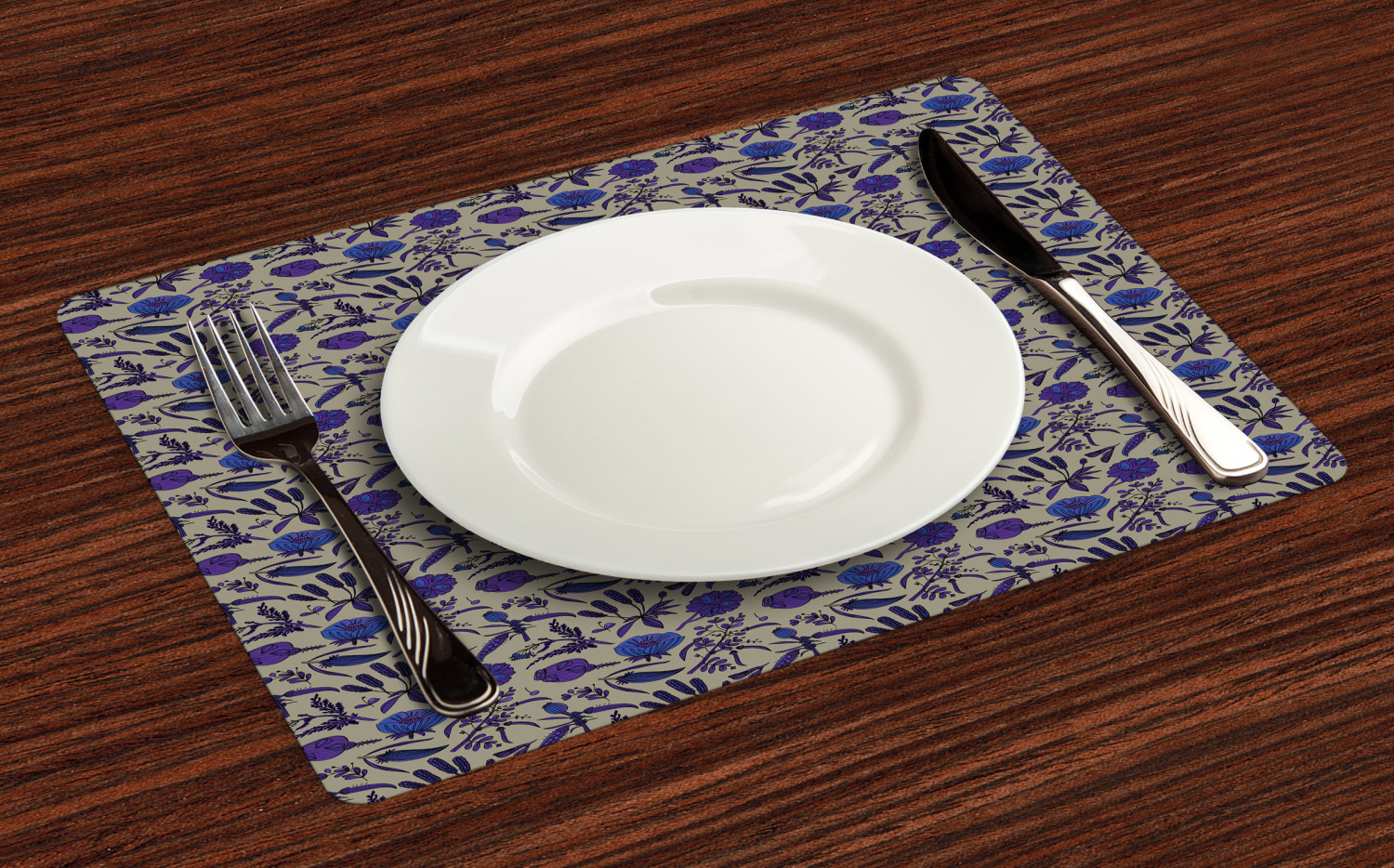 Ambesonne-Flower-Pattern-Placemat-Set-of-4-Fabric-Place-Mats-for-Table-Decor thumbnail 137