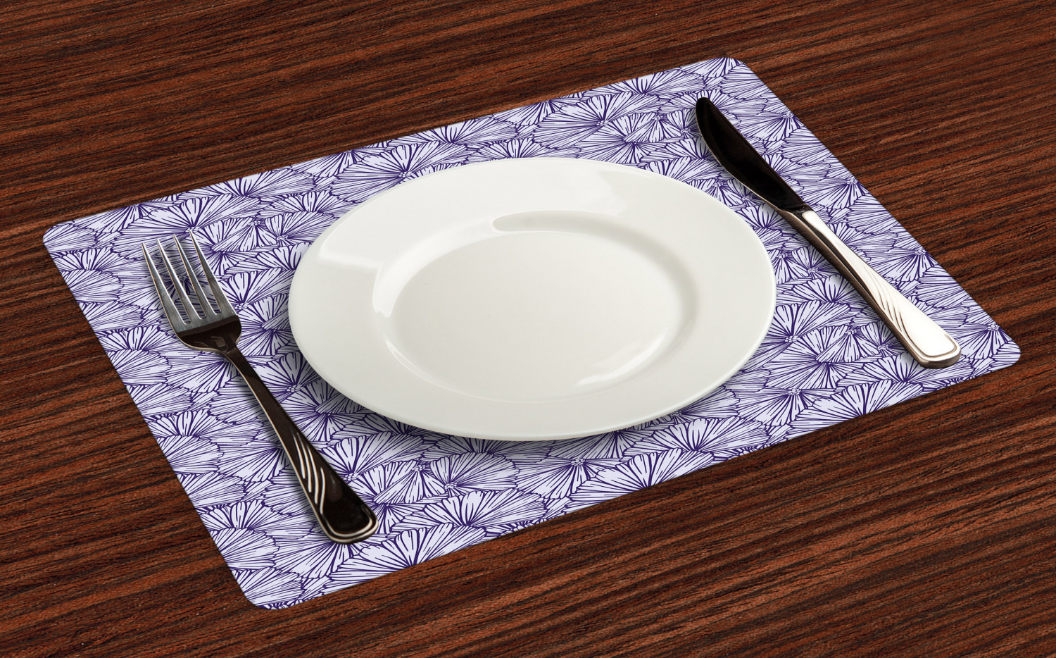 Ambesonne-Flower-Pattern-Placemat-Set-of-4-Fabric-Place-Mats-for-Table-Decor thumbnail 85