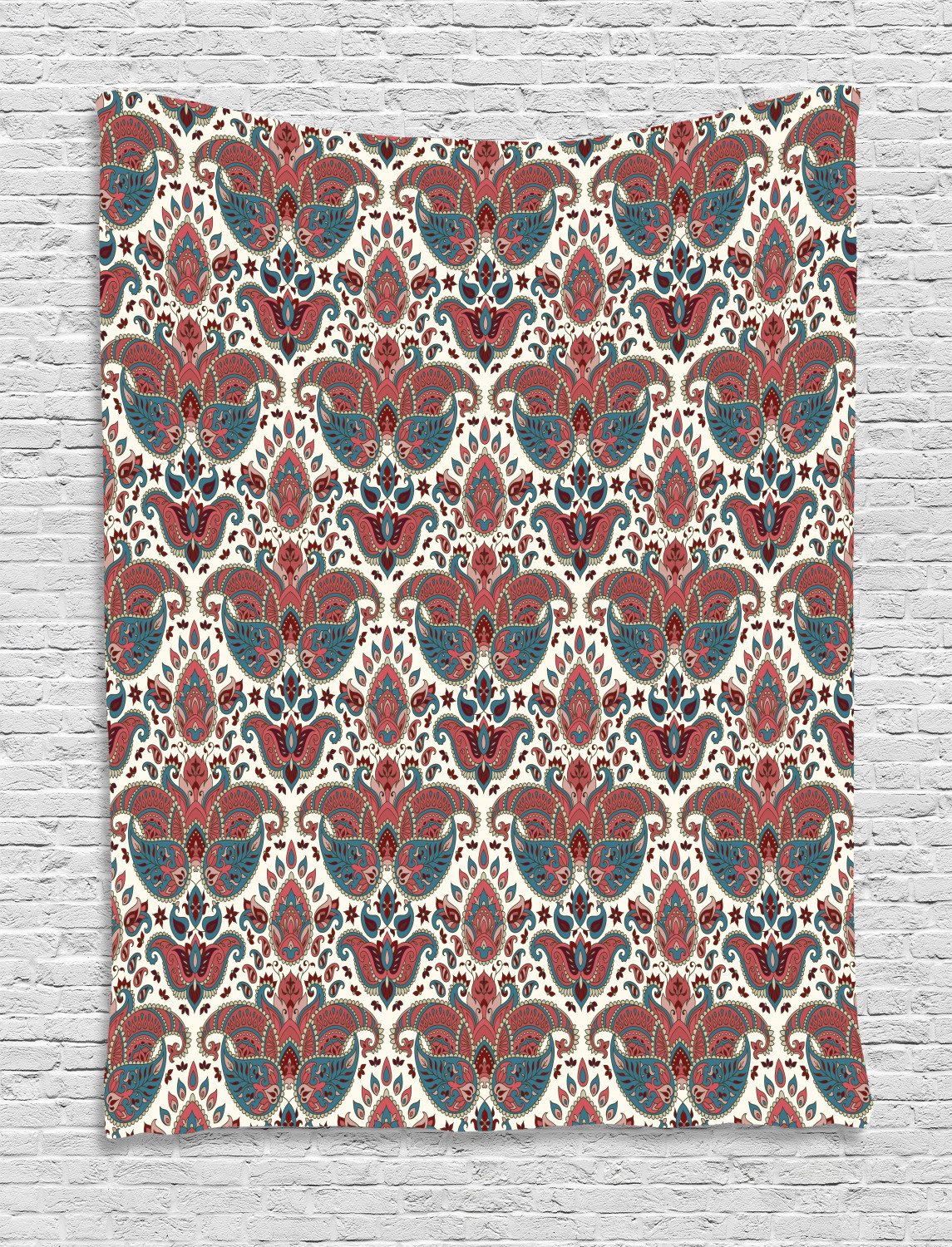 Details About Paisley Tapestry Oriental Ethnic Persian Print Wall Hanging Decor